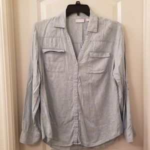 New York & Co Button Up Blouse
